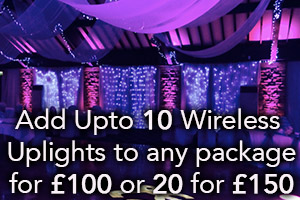 ADD 20 WIRELESS UPLIGHTS FOR £100