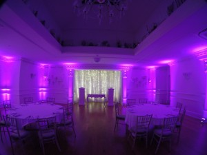 Wireless LED Uplighting in Pink